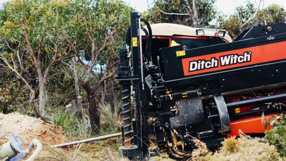 Image of directional drill in use